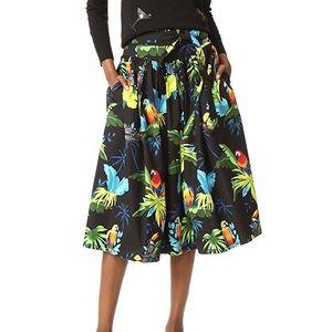 Marc Jacobs tropical parrot print midi skirt. Sz 4